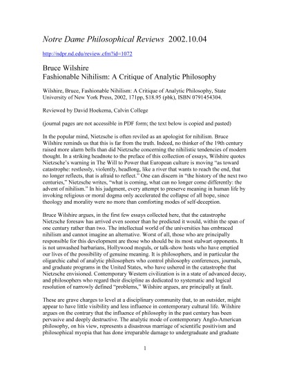 Review submitted to Notre Dame Philosophical Reviews